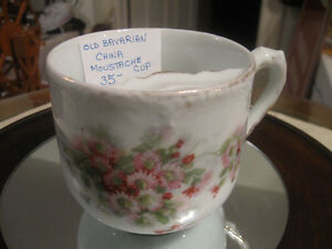 CHARMING OLD ANTIQUE BAVARIAN CHINA MOUSTACHE CUP