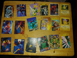 Various trading cards