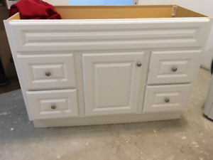 """New 48"""" x 22"""" vanity with cultured marble top"""