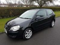 VOLKSWAGEN POLO 1.2 (60bhp) MATCH - 3 DOOR - 2008 - BLACK