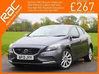 2013 Volvo V40 2.0 D3 Turbo Diesel SE LUX 6 Speed Auto Sat Nav Bluetooth Leather