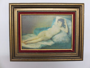 Jolie petit cadre érotique d'un autre époque (Alexandre Goya)