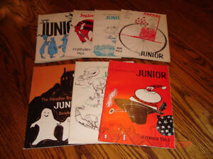 Vintage Lot of 7 Issues The Canadian Red Cross JUNIOR Magazines