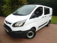 2014 Ford Transit Custom 270 L1H1 2.2TDCi 6 SEAT DOUBLE CAB CREW VAN