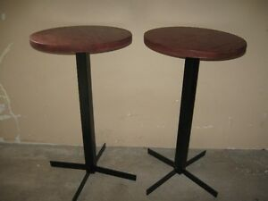 2 cafe tables
