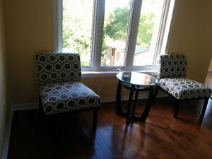 Brand new end chairs, price negotiable