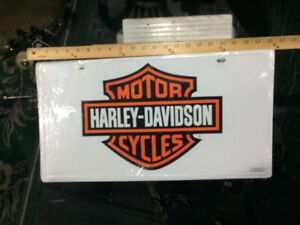 New Harley Davidson Tin Sign larger licence plate