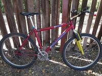 RETRO MOUNTAIN BICYCLE BIKE THIN AIR SHIMANO ROCK SHOCK HARDTAIL