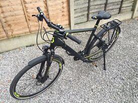 Men's Scott Sub Cross 20 2016 Hybrid Bike, Matt Black and Electric Green