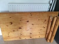 Large 6 seater pine dining table
