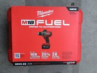 "Milwaukee M18 fuel 1/2"" drill/driver hammer drill 2602-22"