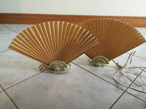 VINTAGE TABLE TOP FAN LAMPS (2)