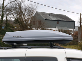 EXODUS ROOF BOX LARGE 360L VERY GOOD CONDITION GREY MADE BY THULE