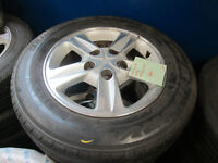"""15"""" TOYOTA RIMS AND TIRES 205/65/15 5X114 15X6.5 +50"""