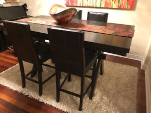 Living room table set - The Grethell Collection Expresso  Leon,s