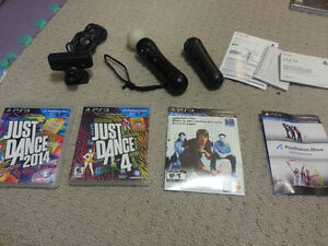 SELLING 2 MINT COMPLETE PS MOVE BUNDLES WITH GAMES CHEAP