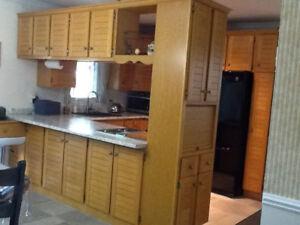 Armoires de cuisine en chêne
