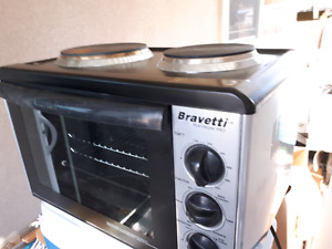 Bravetti countertop oven with  cooktop