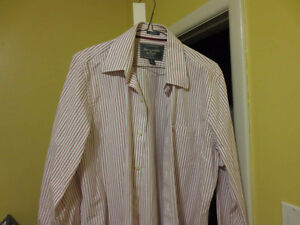 Abercrombie & Fitch Stripe Dress Shirt Large