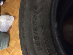 4 used summer tires size 195/65R15 good condition
