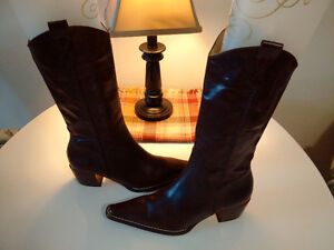 Chic Cowboy/Cowgirl Boots-Prom-Weddings-New-Mint cond. sz 6