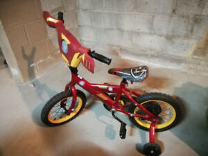 Child's Youth Bike with train wheels Like New Irion Man Sounds