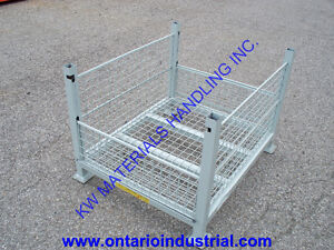 WIRE MESH BINS ON SALE. STACKING WIRE MESH STORAGE CONTAINERS