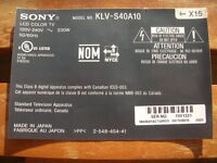 Modules pour télé – Sony KLV-S40A10 – electronic boards