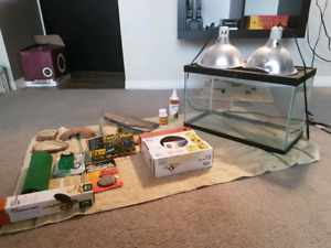 Reptile Tank and Lots of Supplies