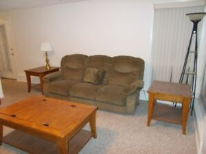 Furnished 1 bedroom suite, wifi, cable, utilities all included