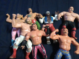 Rubber wrestlers from WWF