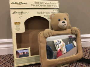 Eddie Bauer baby view car Bear mirror.
