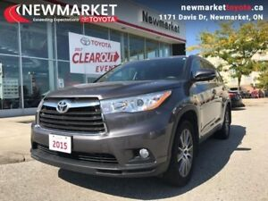 2015 Toyota Highlander XLE AWD  - one owner - local - trade-in -