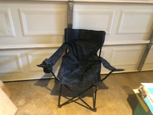 Outdoor folding chairs (set of 9), $7 each, $63 for all
