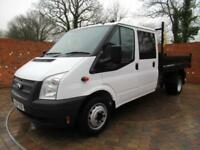 FORD TRANSIT 350 DOUBLECAB ONE WAY TIPPER LWB 125 BHP TOOL BOX 3 SEATS