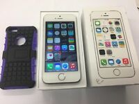 iPhone 5S White EE network 16gb box and case
