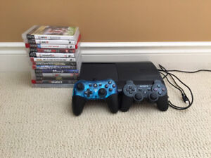 PS3 Console and 2 Controllers With 13 Games