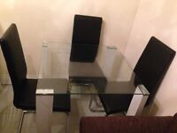 Glass table and chair sets new table £60
