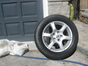 15 inch new snow tires  michelins on rims