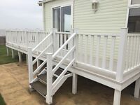 Park home/holiday home decking