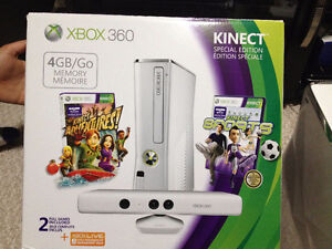 XBOX 360 KINECT WITH GAMES AND CONTROLLER Cambridge Kitchener Area image 1
