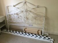 White Double bed from NEXT + two bedside cabinets