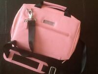Pink Leather Carry Bag - netbook or iPad