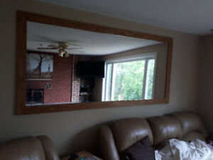 Large wall hung mirror