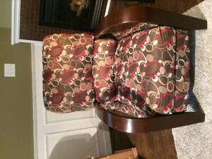 Reclining fabric accent chair