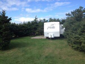 Camper rental at twin shores camping