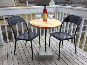 custom bistro table and chairs