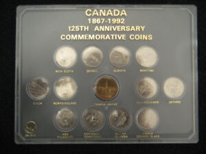 Collection 25 cents 1992 Canada dans plastique.