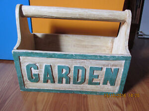 VINTAGE-LOOKING CARVED BOX FOR PLANTS OR STORAGE