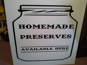 Homemade preserves --signage